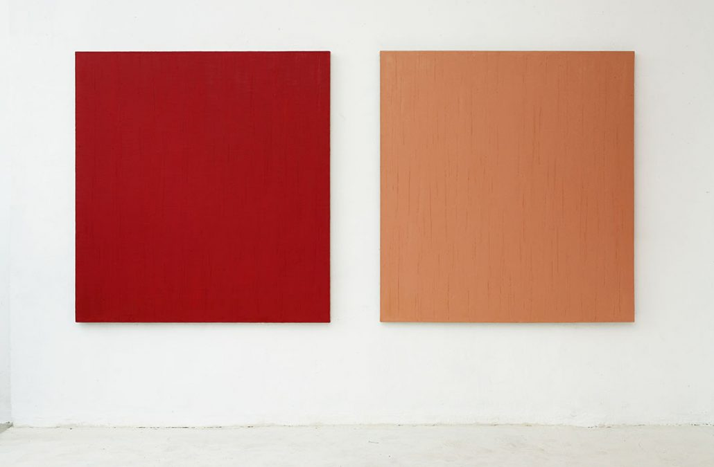 2 x Öl auf Leinwand, 2000-2002, je 148 x 138 cm