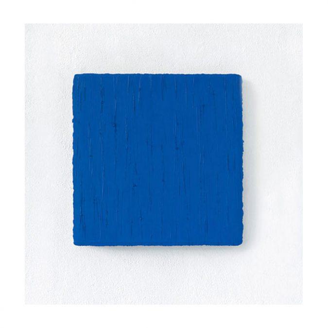 """Blaues Quadrat"" 2010, Öl auf Leinwand, 40 x 40 cm, Privatsammlung, Japan"