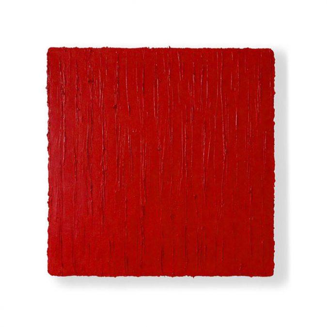 """""""Drei verschiedene Rots"""" 2016, Öl auf Leinwand, 50 x 50 cm"""