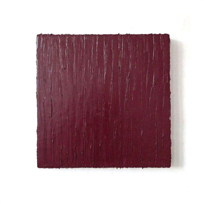 """""""Dunkelrot"""" 2016, Öl auf Leinwand, 50 x 50 cm"""