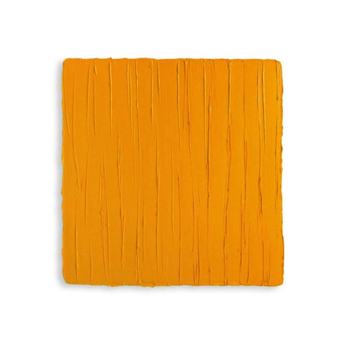 """Goldgelb"" 2014, Öl auf Leinwand, 40 x 40 cm"