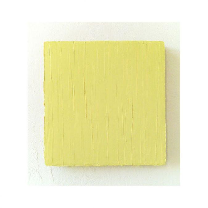 """Helles Zitronengelb"" 2014, Öl auf Leinwand, 40 x 40 cm"