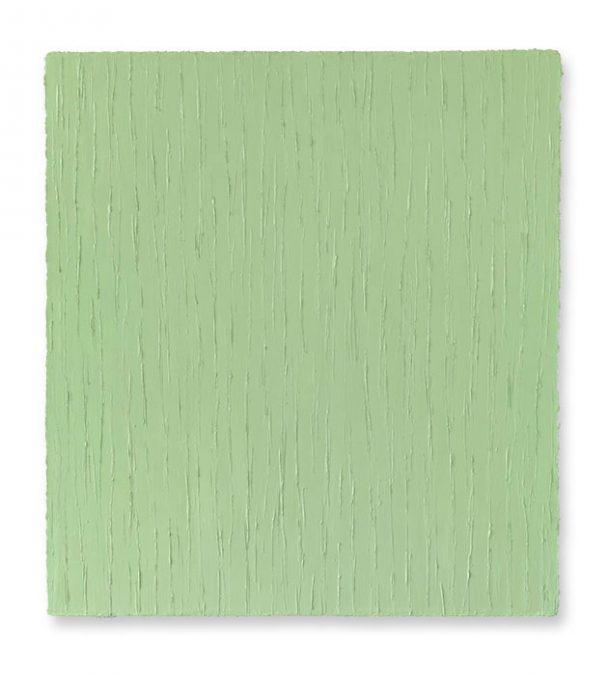 """""""Lichtes Graugrün"""" 2014, Öl auf Leinwand, 120 x 110 cm"""