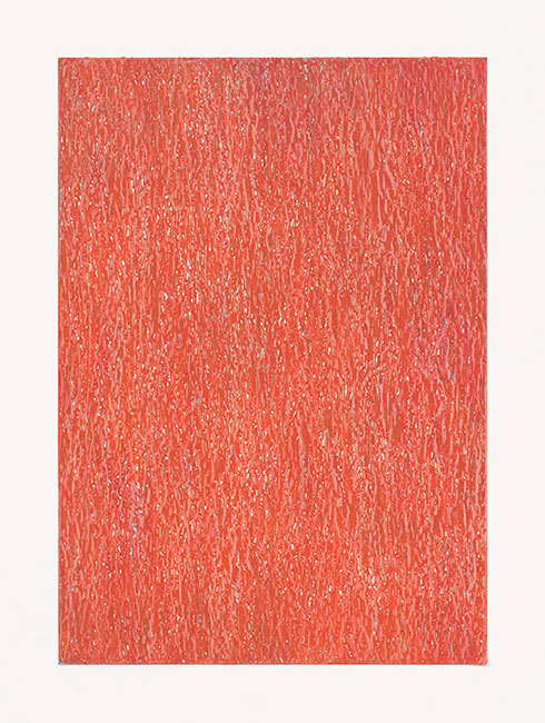 """Mohn"" 2014 (Fahrland) Ölpastelle auf Papier, 42 x 30 cm"