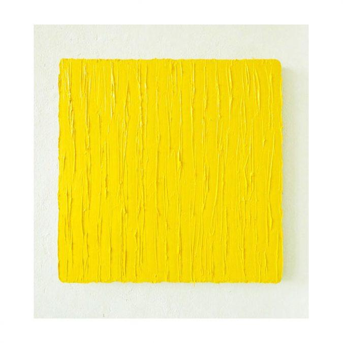 """""""O.T. Gelb"""" 2016, Öl auf Leinwand, 50 x 50 cm"""