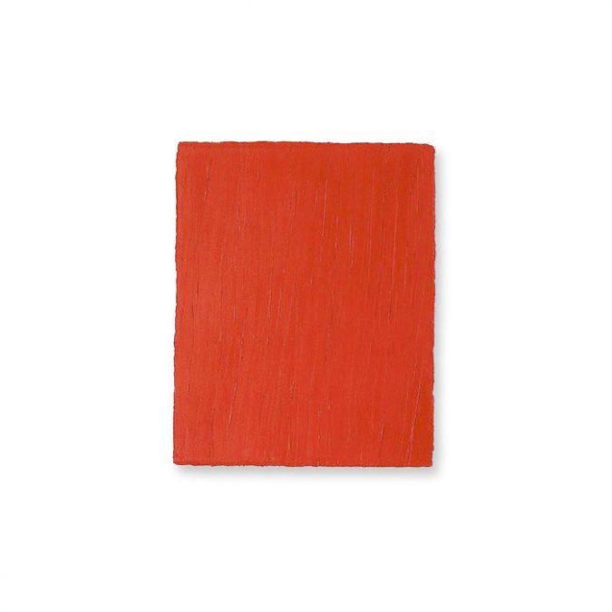 """Kadmiumrot"" 2004, Öl auf Leinwand, 30 x 25 cm"