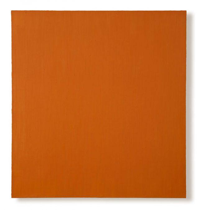 """O.T. (Orange) 2004, Öl auf Leinwand, 139 x 135 cm"