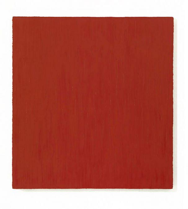 """""""Rosso"""" 2010, Öl auf Leinwand, 150 x 140 cm, Privatsammlung"""