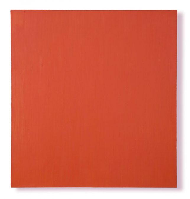 """""""Rotorange"""" 2001, Öl auf Leinwand, 148 x 138 cm"""