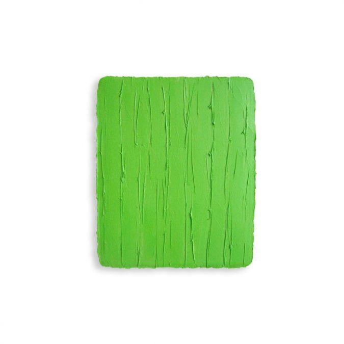 """""""Saftgrün"""", 2016, Öl auf Leinwand, 31 x 26 cm, Sammlung Appel, Frankfurt"""