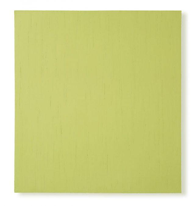 """O.T. Senfgelb"" 2004, Öl auf Leinwand, 147 x 135 cm"