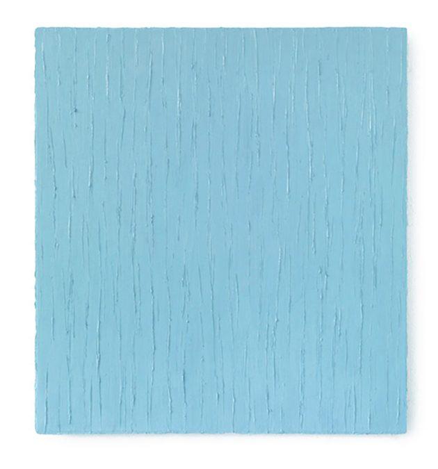"""""""Tagblau"""" 2014, Oel auf Leinwand, 120 x 110 cm"""
