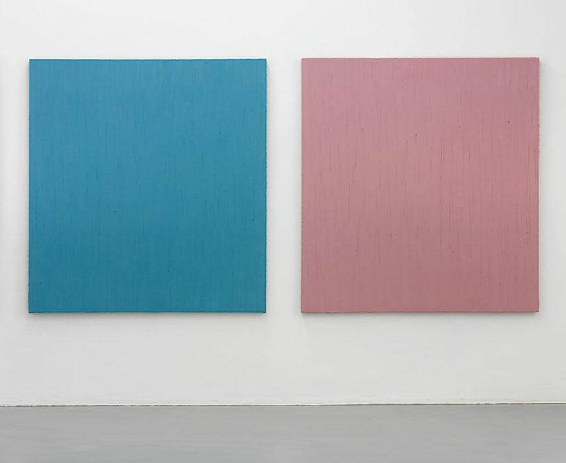 """""""Tagblau und Tonrosa"""" 2007, Öl auf Leinwand, je 150 x 140 cm"""