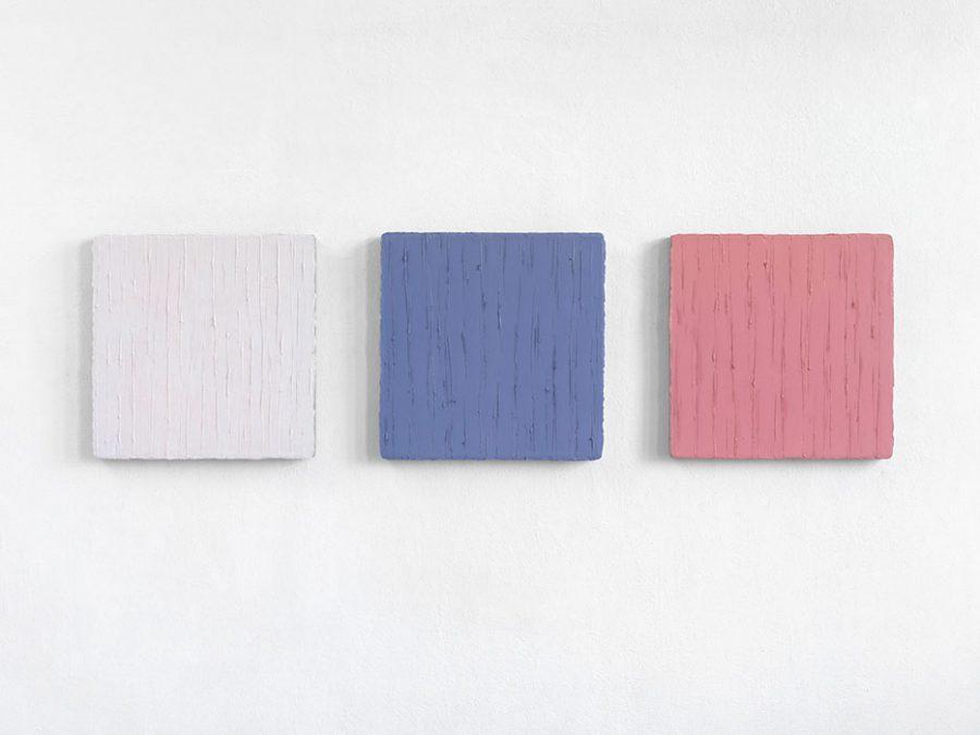 """""""Widerschein II"""", 2013-14, Öl auf Leinwand, je 50 x 50 cm"""