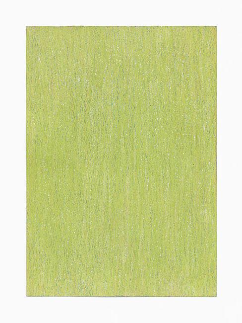 """""""Wiese im September"""" 2013 (Havelland) Ölpastelle auf Papier, 42 x 30 cm"""