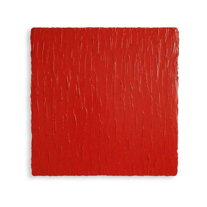 """Zinnober"" 2016, Öl auf Leinwan, 50 x 50 cm, Privatsammlung, Italien"