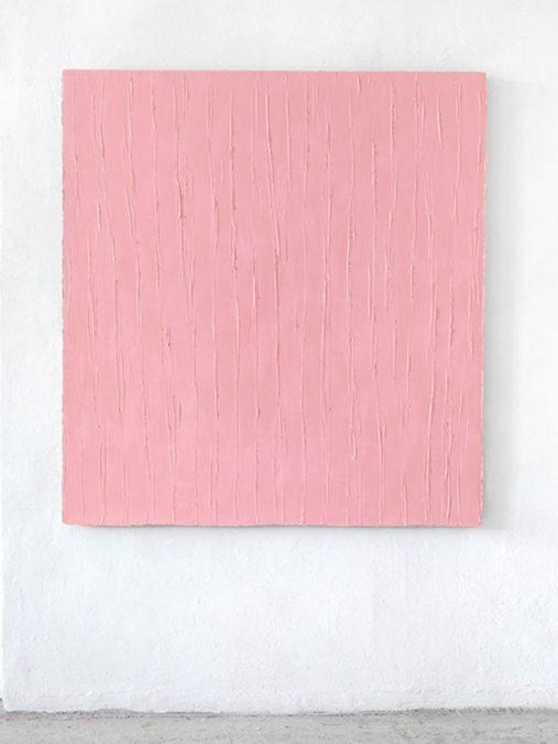 """Ins Freie"" - Pink 2014, Öl auf Leinwand, 150 x 140 cm"