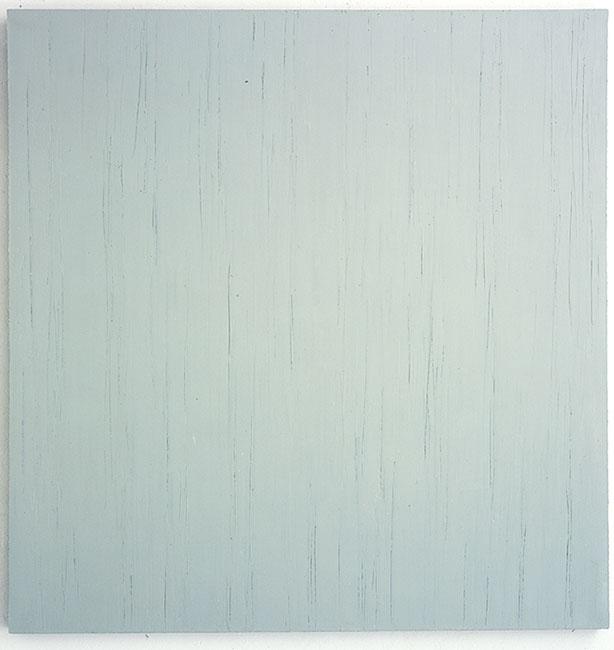 """""""Blaugrau I"""", 1999, Öl auf Baumwolle, 138 x 129 cm"""