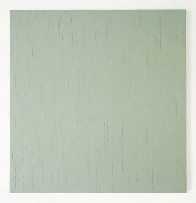 """""""Graugrün"""" 2001, Öl auf Baumwolle, 148 x 143 cm"""
