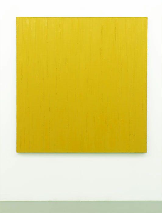 """""""O.T. (Gelb)"""", 2003, Öl auf Leinwand, 139 x 135 cm"""