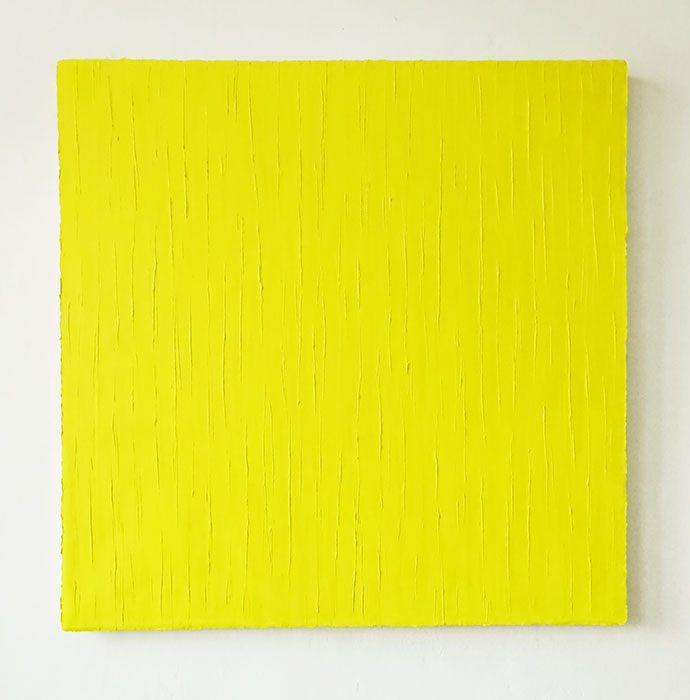 """Rapsgelb"" 2016, Öl auf Leinwand, 120 x 120 cm"