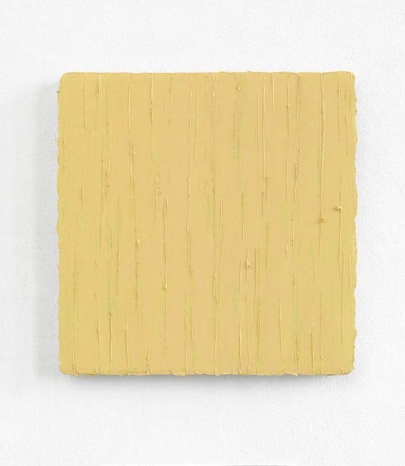 Gruen durch Hellgelb, Serie: Widerschein I, 2014, Oel auf Leinwand, 50 x 50 cm