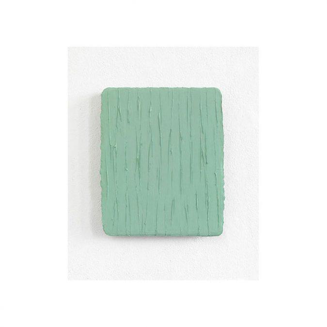 """Helles Blaugrün"" 2013, Öl auf Leinwand, 31 x 26 cm"