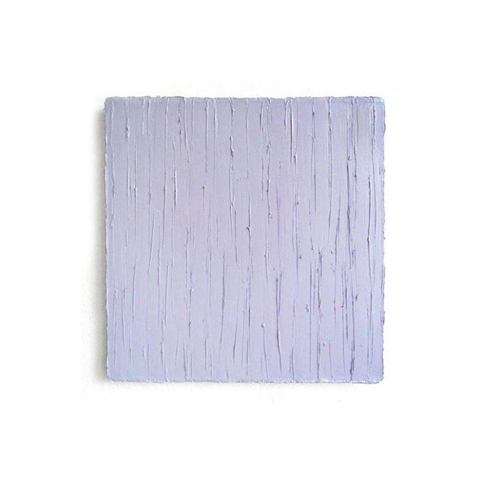 """""""Helles Blauviolett"""" 2014, Öl auf Leinwand, 50 x 50 cm, Angermuseum Erfurt"""