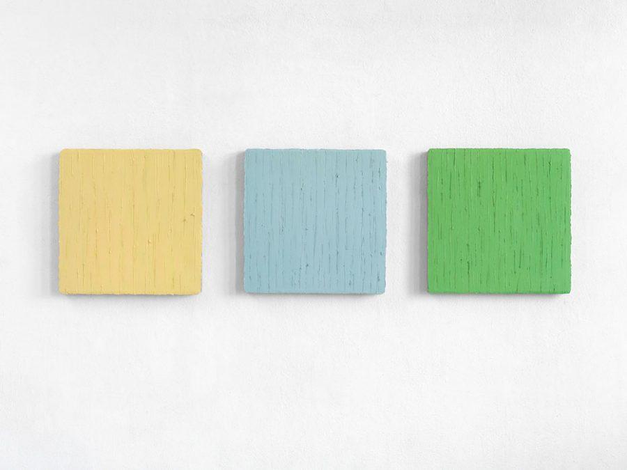 """""""Widerschein 1"""", 2013-14, Oel auf Leinwand, je 50 x 50 cm"""