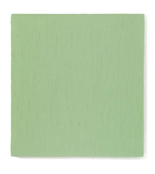 """""""Widerschein II"""" (Hellgrün) 2010, Öl auf Leinwand, 150 x 140 cm"""