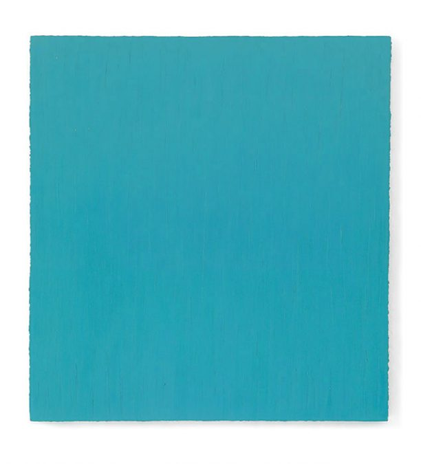 """""""Widerschein III (Blaugrün) 2010, Öl auf Leinwand, 150 x 140 cm"""