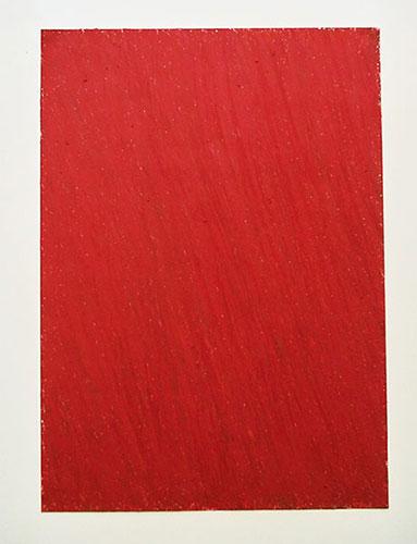 """""""Mohnfeld"""" 2005, Ölpastell auf Papier, 29,5 x 21 cm, Am Riewendsee"""