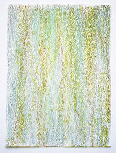 """""""Regen"""" 2000, Ölpastell auf Papier, 29,5 x 21 cm, Oberrhein"""